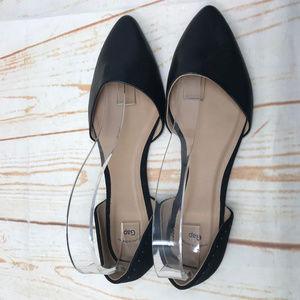 GAP D'orsay Black Pointy Toe Flats sz 9